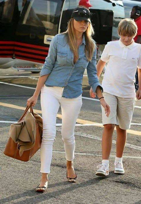Barron Trump and his beautiful mother, First Lady Melania Trump.