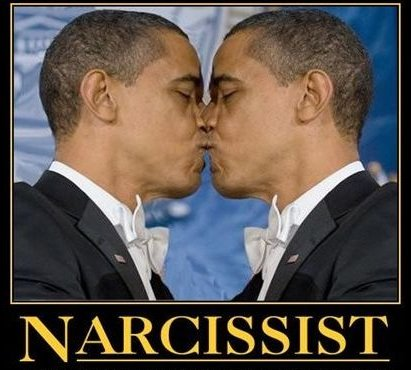 obama in love with himself