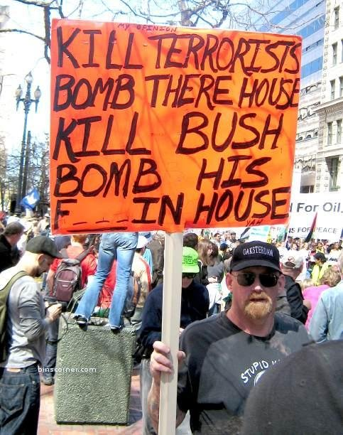 Death Threats Against Bush at Protests Ignored for Years