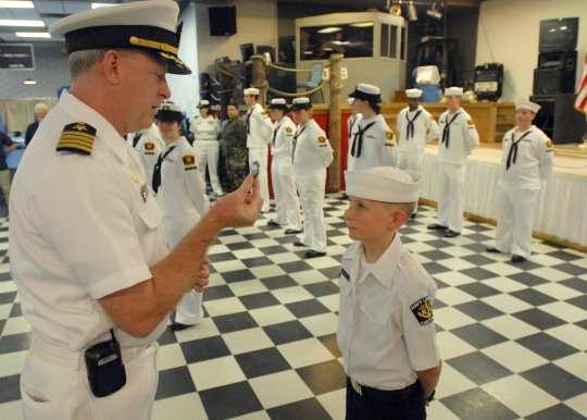 ... having the best uniform during a uniform inspection. (U.S. Navy photo