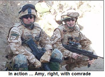 Women Cannot Join The Marines Or Infantry Regiments So It Was Unprecedented For One To Be In Combat Amy From Port Talbot South Wales