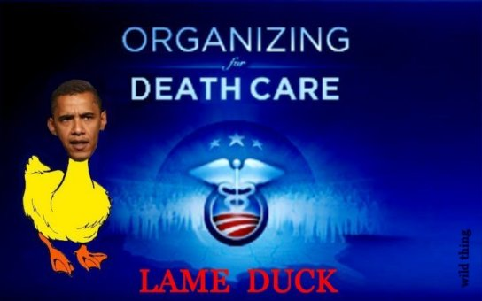 Lame duck Obamarunning hiding