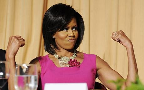 ugly michelle obama pictures. Michelle Obama Vows to Strike