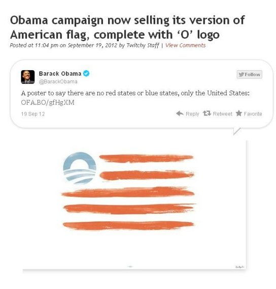 obama flag with his picture