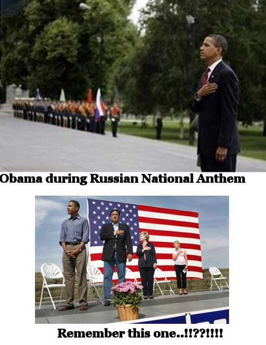 obama disrepecting our flag
