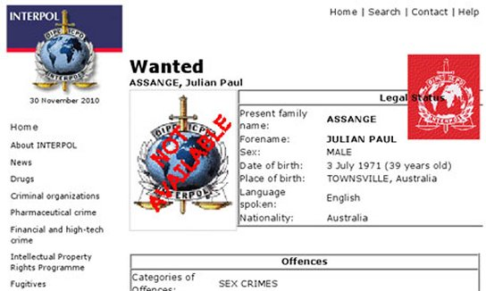Theodores world traitors to america archives wikileaks interpol issues wanted notice for julian assange i hope the russians find him first ccuart Image collections